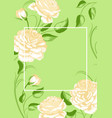 background with yellow roses beautiful decorative vector image vector image