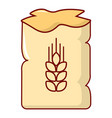 bag of wheat icon cartoon style vector image vector image