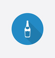 Beer bottle Flat Blue Simple Icon with long shadow