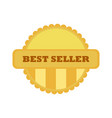 best seller gold vintage custom badge emblem vector image vector image