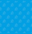big excavator pattern seamless blue vector image