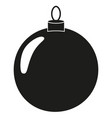black and white christmas ball silhouette vector image vector image