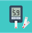 blood glucose meter blood sugar readings vector image