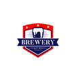 brewery craft beer logo symbol icon vector image