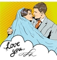 Bride and groom kissing each other vector image
