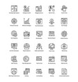 bundle of web and seo line icons vector image vector image