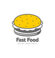 burger flat isolated vector image