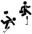 Business hurdles vector image vector image