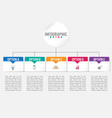 business infographic template with rectangular vector image vector image