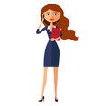 business woman cute carroty young girl vector image