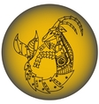 Capricorn in steampunk style Horoscope sign vector image
