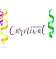 carnival card vector image