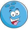 Cartoon Bowling Ball vector image vector image