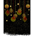 Christmas baubles and stars portrait background vector image vector image