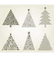 Collection christmas tree vector | Price: 1 Credit (USD $1)