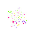 colorful confetti burst isolated on white vector image