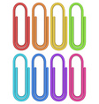 Colourful paper clips vector image vector image
