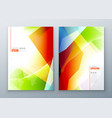 cover set template for brochure banner plackard vector image vector image