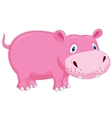 Cute hippo cartoon vector image vector image