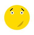 cute smiley icon vector image vector image