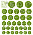 eco icon button set vector image