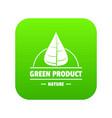 eco vegan icon green vector image vector image