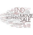 end word cloud concept vector image vector image