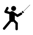 fencing glyph icon vector image