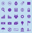 Finance violet icons on blue background vector image vector image