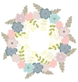 Floral frame with abstract leaves vector image