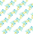Floral pattern with Forget-Me-not flowers vector image vector image