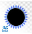 Gas burner kitchen oven isolated on