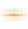 gear spectrum halftone effect vector image vector image