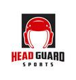 head guard sports logo vector image vector image