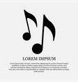 icon music symbol sound vector image