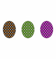 isolated easter egg colorful vector image vector image