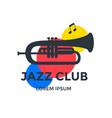 jazz club emblem or logo design vector image vector image