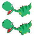 little running dino vector image vector image