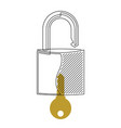lock and key continuous line vector image vector image