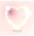 Love heart background from beautiful bright stars vector image vector image