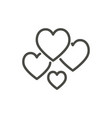 love icon outline hearts line love symbol vector image