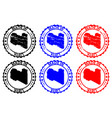 made in libya rubber stamp vector image vector image