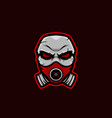 masked skull mascot logo corona skull mascot vector image vector image