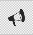 megaphone icon isolated on transparent background vector image
