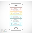 mobile phone for infographic vector image