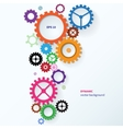 Modern abstract colorful industrial gear vector image vector image