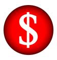 Money button vector image vector image