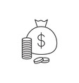 Money icon outline vector image vector image