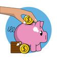 money piggy saving vector image