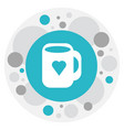 of heart symbol on mug icon vector image vector image